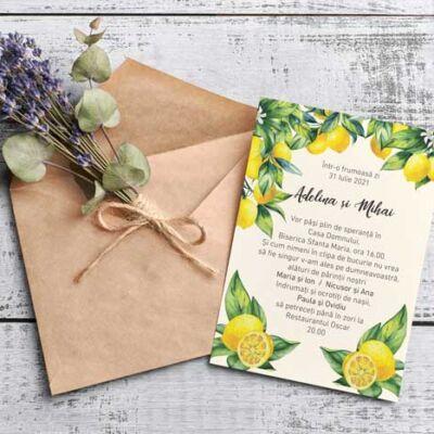 Invitație Nuntă Lemon