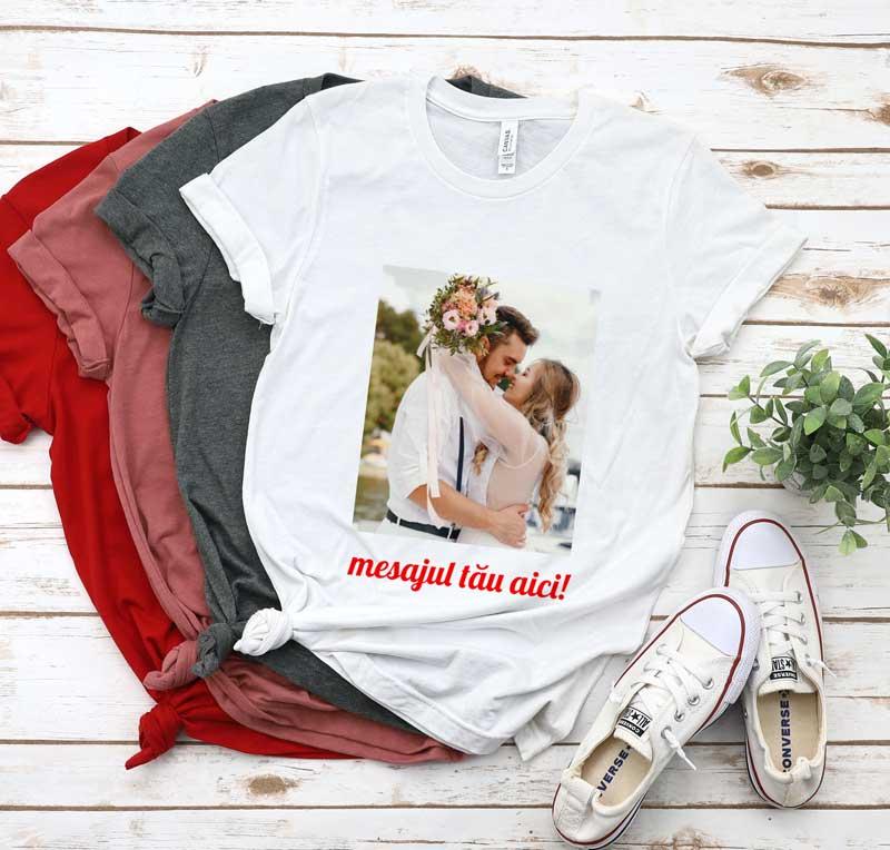 Tricou Personalizat cu 1 poza și mesaj