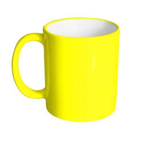 cana personalizata galben neon
