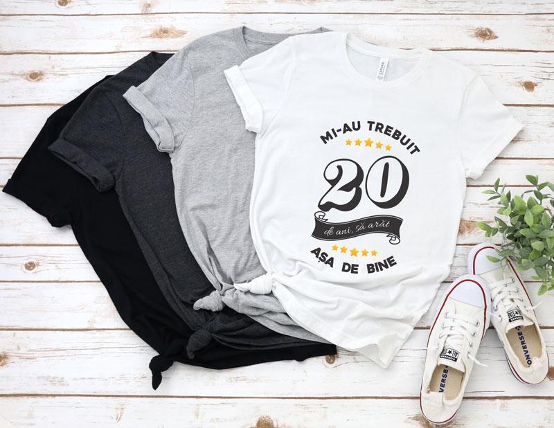 Tricou Mi-au trebuit 20 de ani sa arat atat de bine MODEL6
